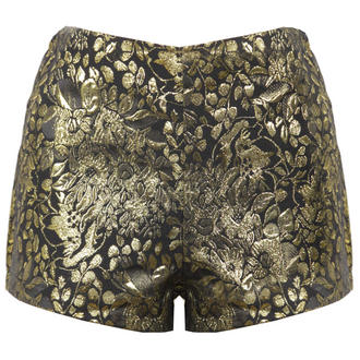 View Item Black and Gold Baroque High Waisted Short